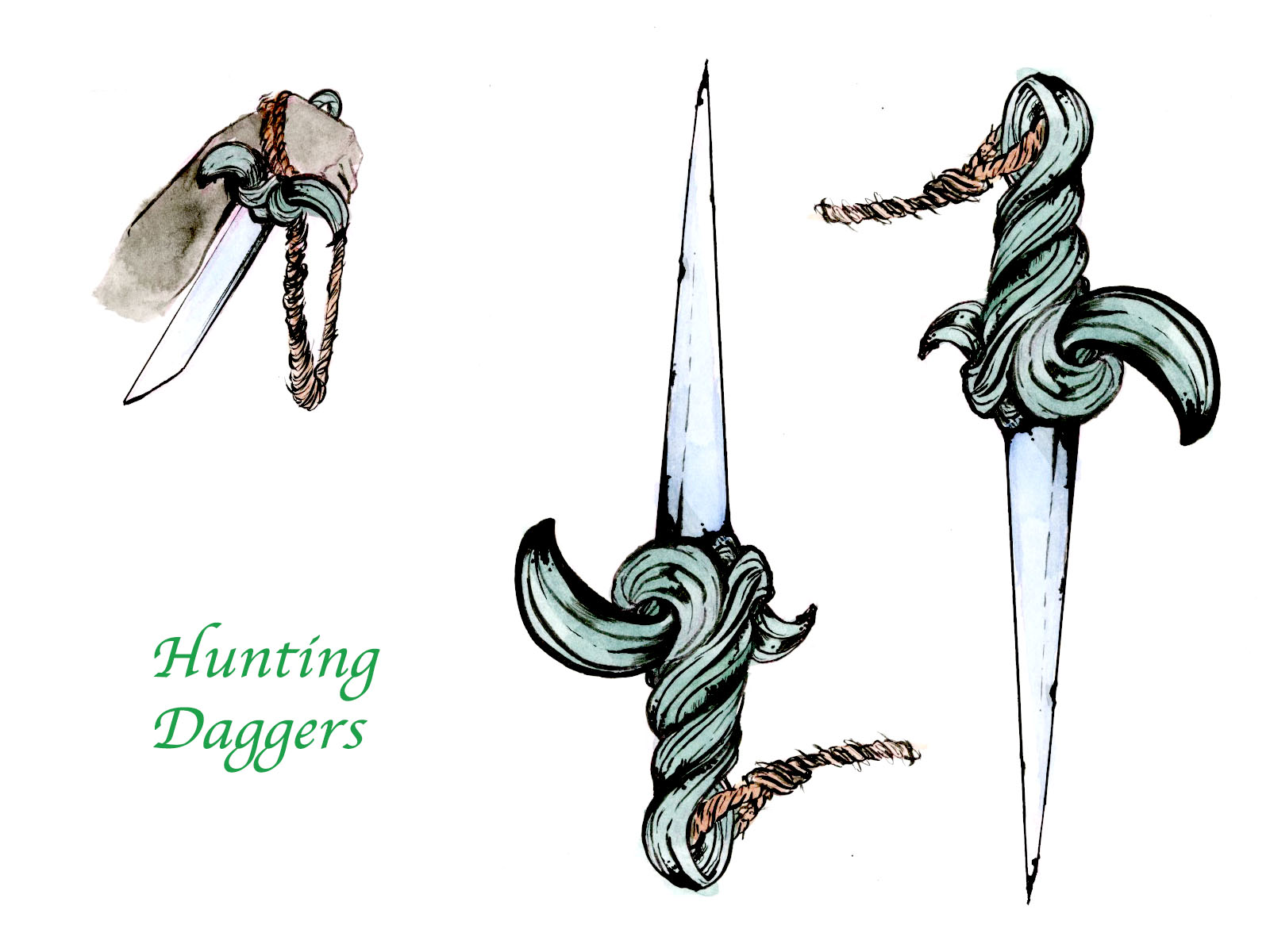 Hunting Daggers Design
